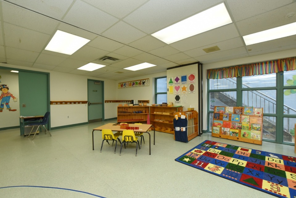 Interior view of a classroom