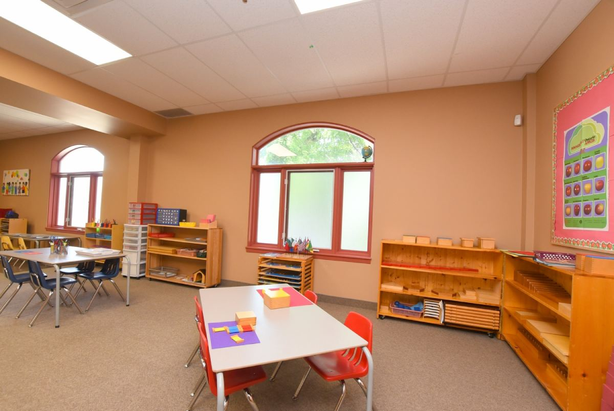 view of a classroom from a corner
